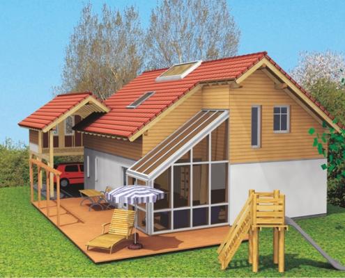 Maison ossature bois 33